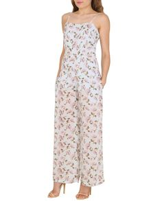 TENKI Strappy Floral Print Jumpsuit