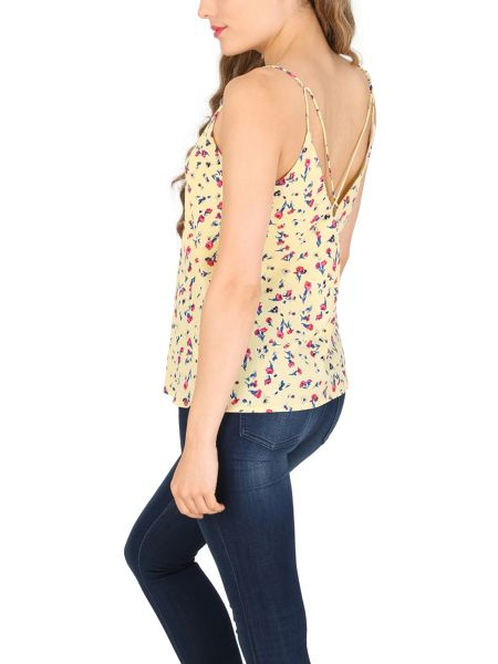 TENKI Floral Strappy V-Neck Top