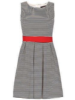 Sleeveless Stripy Skater Dress