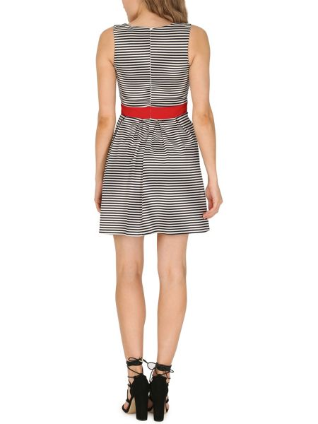 TENKI Sleeveless Stripy Skater Dress