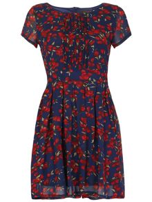 TENKI Floral Cap Sleeve Skater Dress
