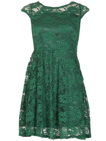 TENKI Cap Sleeve FLoral Lace Dress