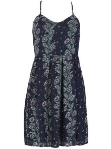 TENKI Sleeveless Floral Pattern Strappy Dress