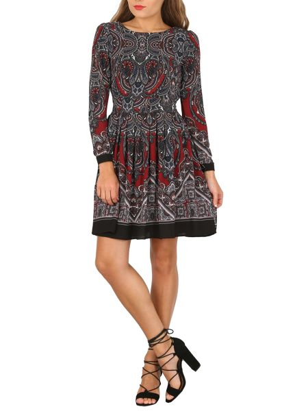 TENKI Paisley Print Full Sleeve Dress