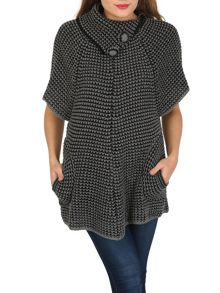 TENKI Half Sleeve Knitted Tunic Jumper