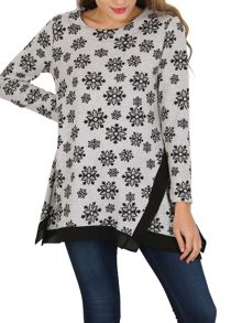 TENKI Full Sleeve Floral Patterned Top Jumper