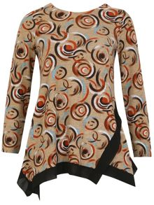 TENKI Full Sleeve Geo Circle Print Top Jumper