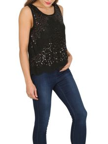 TENKI Sequin Embellished Party Top