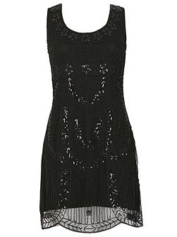 Sequin & Beads Embellished Party Dress