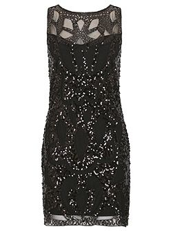 Sequin Embellished Lace Party Dress