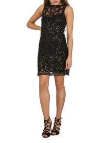 TENKI Sequin Embellished Lace Party Dress