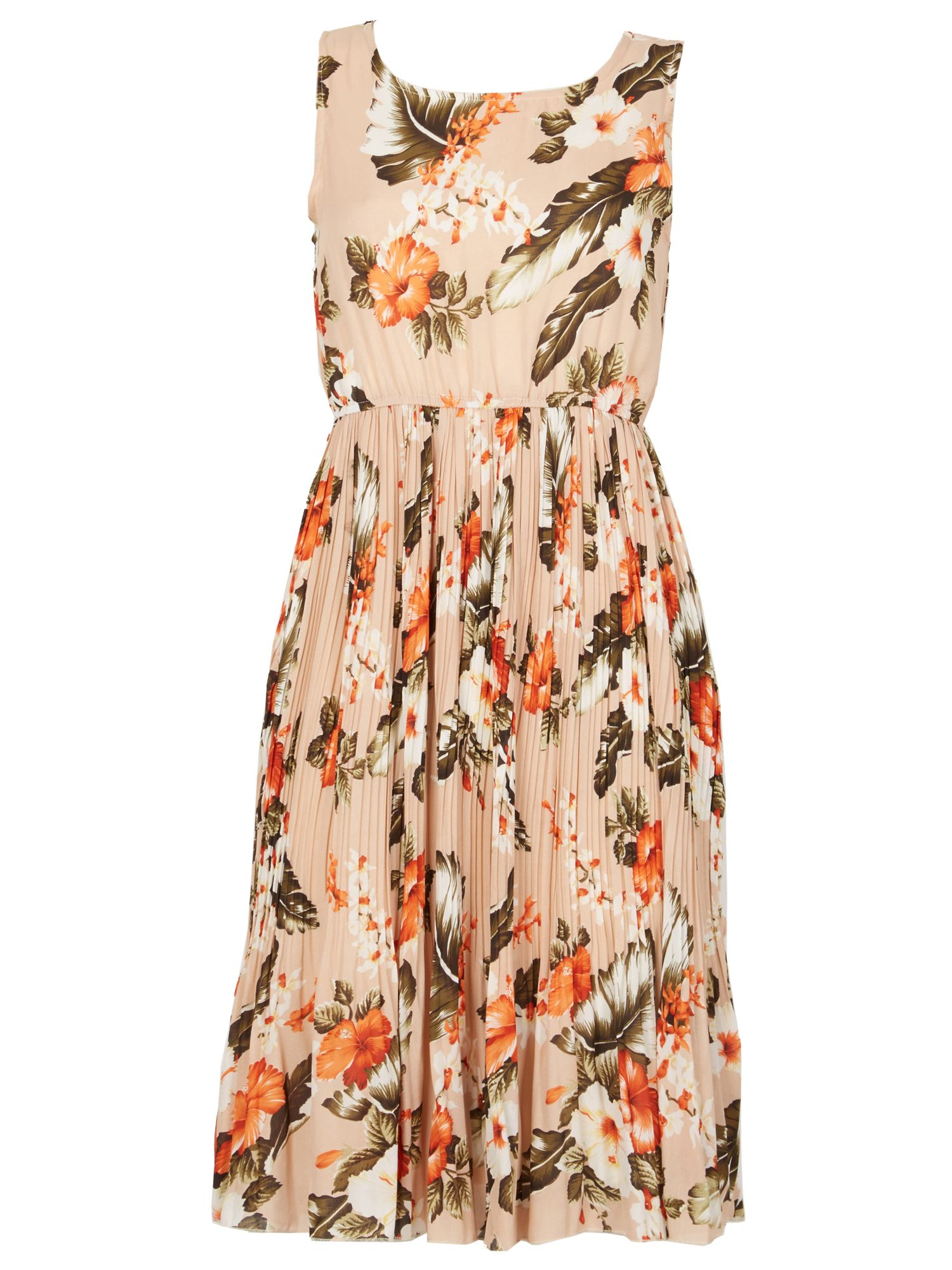 TENKI Sleeveless Floral Midi Dress, White