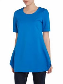 Constructed short sleeve tunic