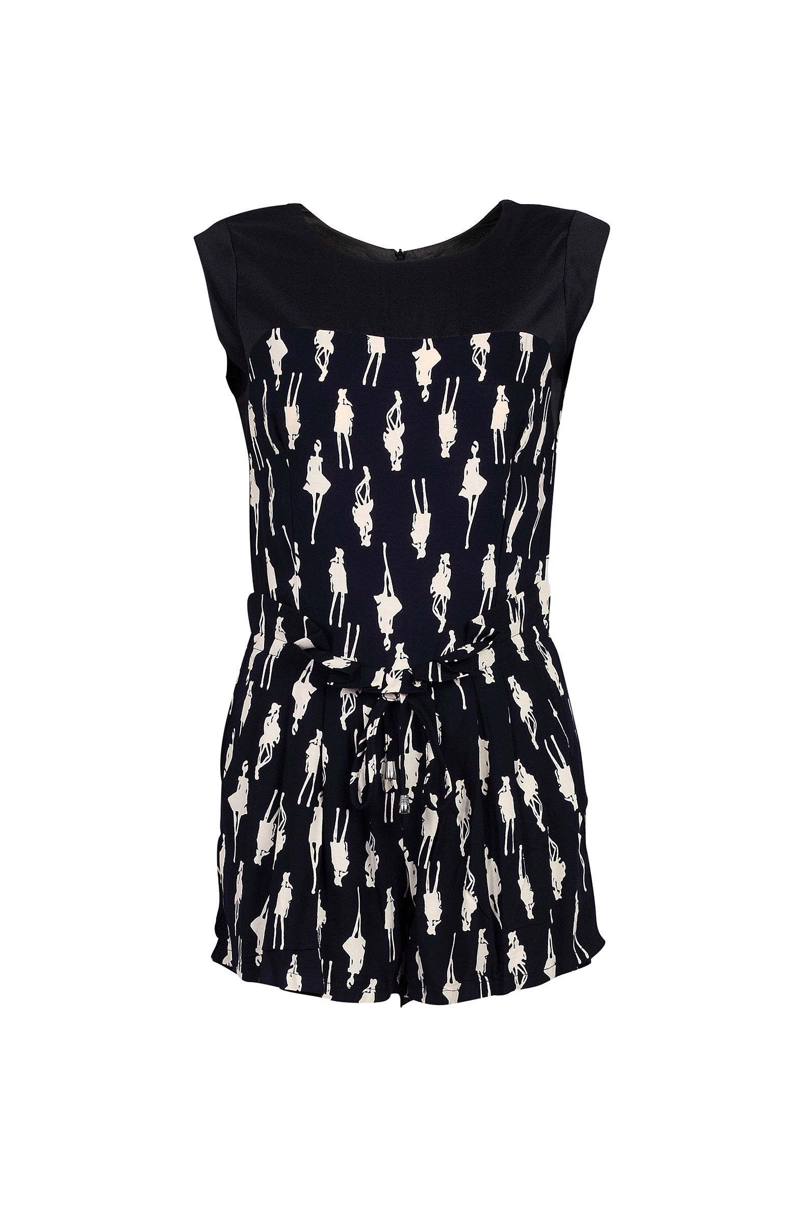 Comic print playsuit