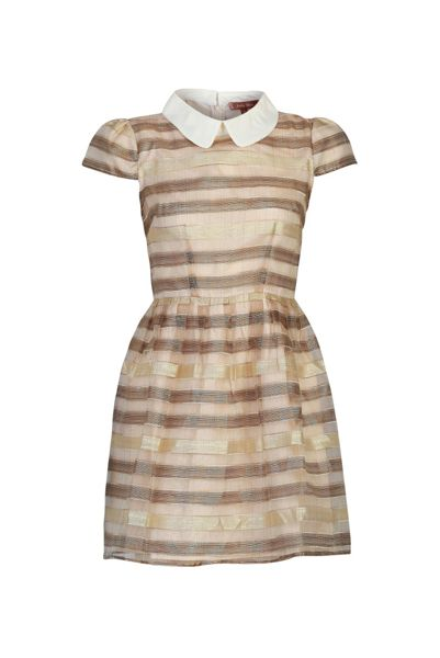 Jolie Moi Stripe Jacquard Dress