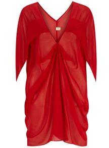 Orien Love V Neck Ruched Batwing Tunic