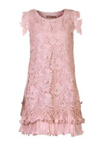 Crochet lace A-line dress