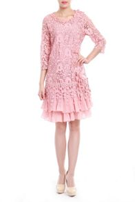 3/4 sleeve crochet lace dress