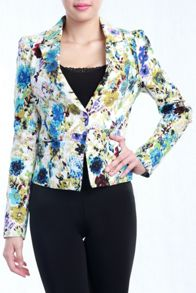 Print Fitted Blazer
