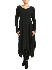 Creased Asymmetric Long Tunic