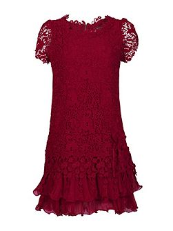 Crochet Lace Cap Sleeve Dress
