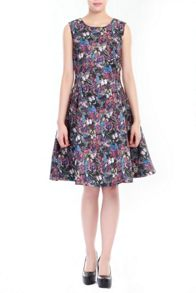 Butterfly Print Fit & Flare Dress