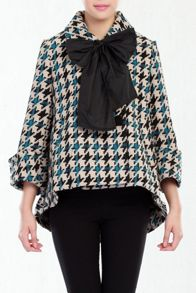 Dogtooth Check 60s Swing Coat