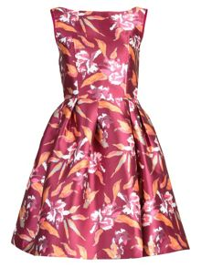 Jolie Moi Pattern Printed Satin Dress