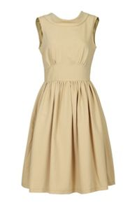 Boat Neck 50s` Fit & Flare Dress