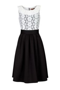 Two Tone Lace 50s Dress