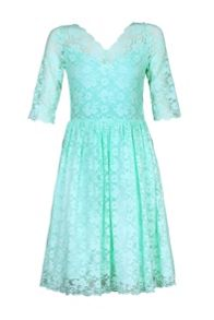 Jolie Moi 3/4 Sleeve Lace Prom Dress