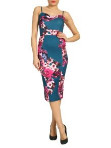 Floral Print Bandeau Dress