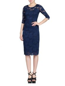 2In1 Floral Lace Bodycon Dress