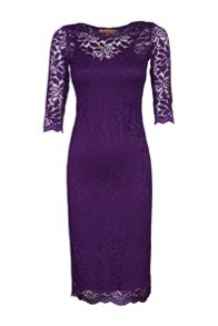 3/4 Sleeve 2in1 Lace Bodycon Dress