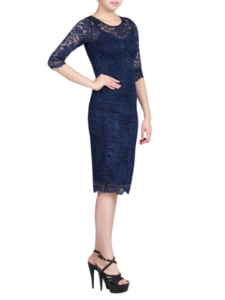 Jolie Moi Two in One Lace Bodycon Dress