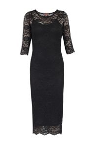 Two In One Lace Midi Dress