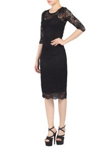 Jolie Moi Two In One Lace Midi Dress
