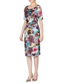 Jolie Moi Short Sleeve Floral Dress