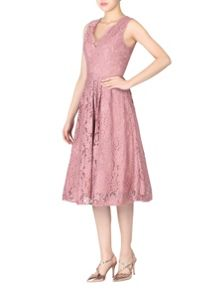 Jolie Moi Scalloped Lace Prom Dress