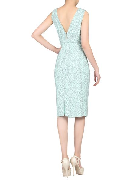 Jolie Moi Two Tone Lace Bonded Dress