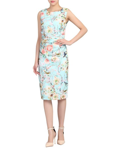 Jolie Moi Ruched Floral Printed Dress