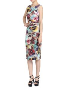 Jolie Moi Textured Butterfly Print Dress