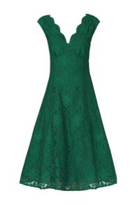 Jolie Moi Empire Waistline Lace Dress
