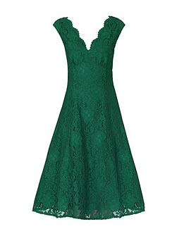 Empire Waistline Lace Dress