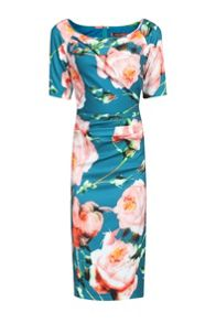 Jolie Moi Floral Print Half Sleeve Dress