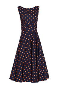 Jolie Moi Printed 50s Wrap Belt Dress
