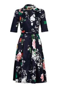 Jolie Moi Floral Print Shirt Dress