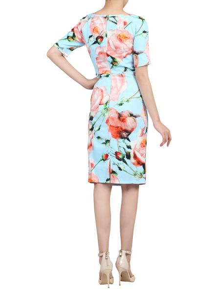 Jolie Moi Short Sleeve Ruched Dress