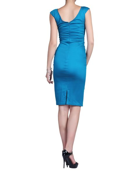 Jolie Moi 40s Ruched Wiggle Dress