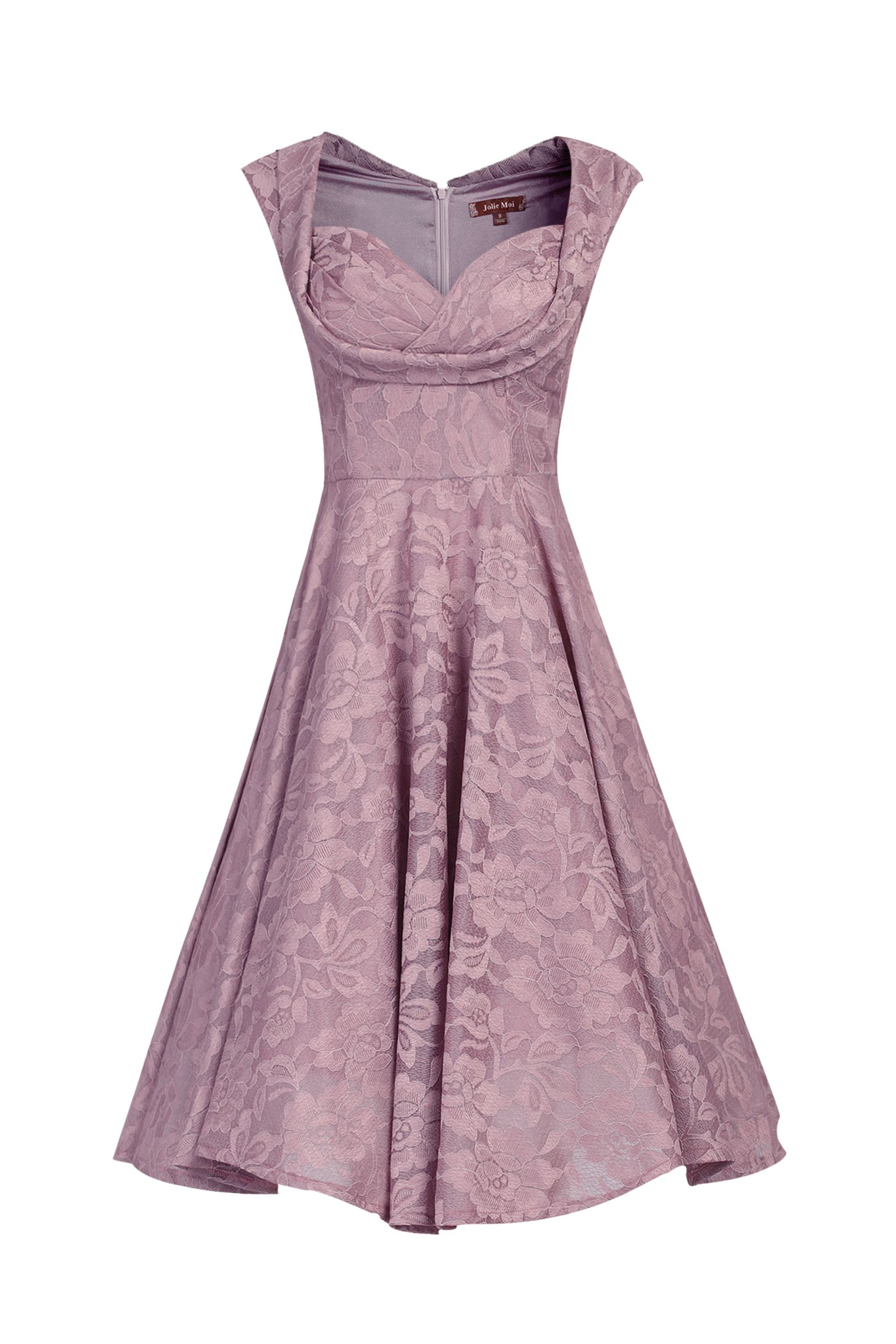 Jolie Moi Ruched Crossover Bust Prom Dress, Lilac
